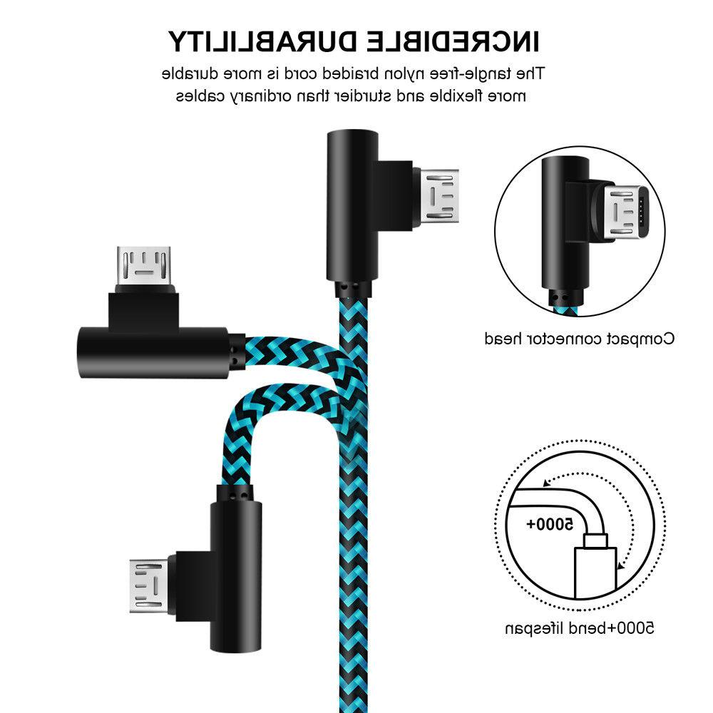 3 Pack ft 90 Right Micro for Android Samsung LG