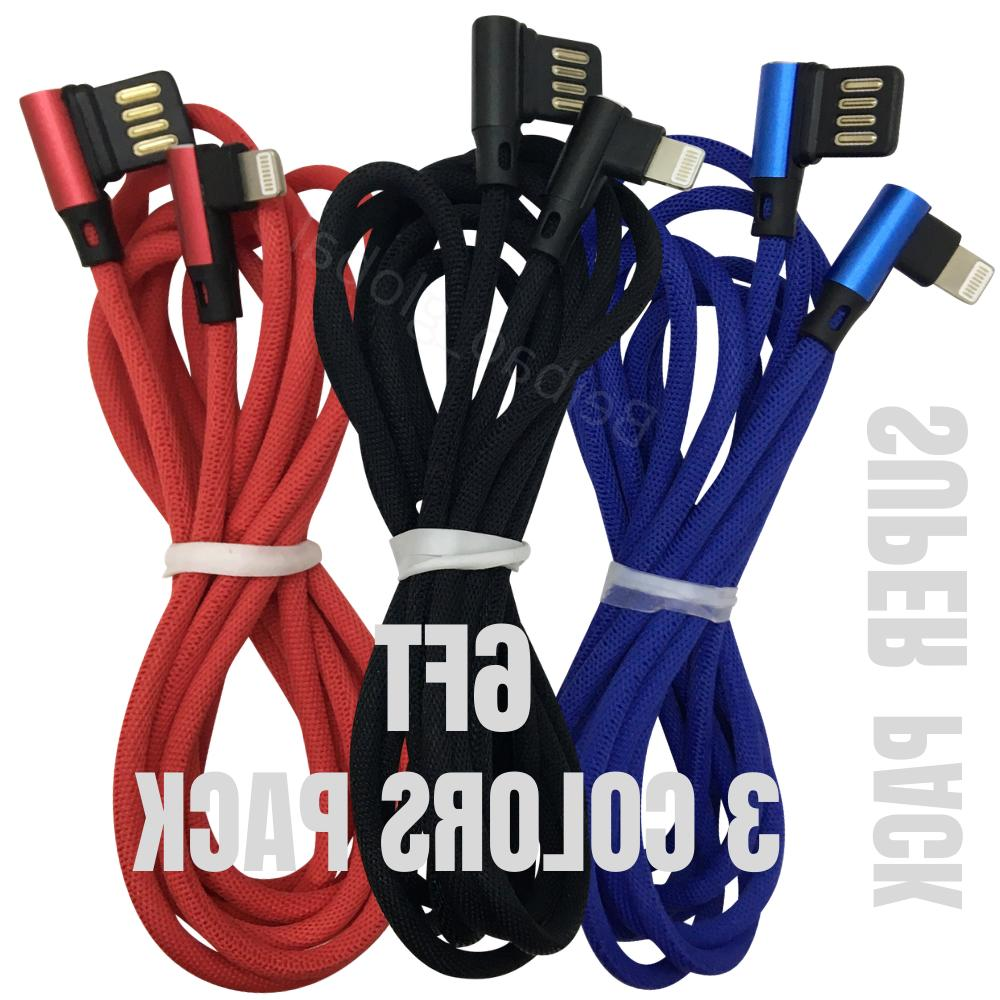 3 pack 6ft lightning cable 90 degree