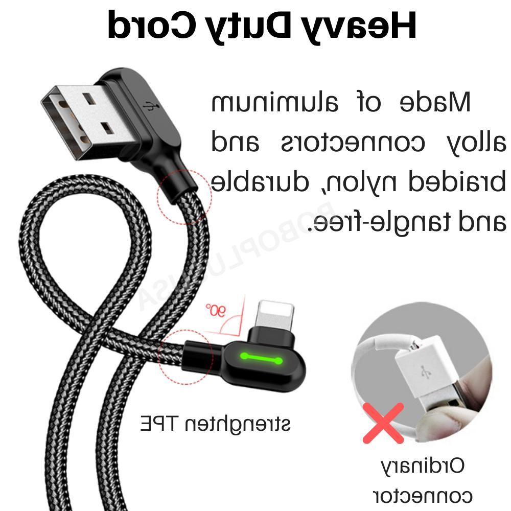 3 Degree Braided Cable LED Charger For