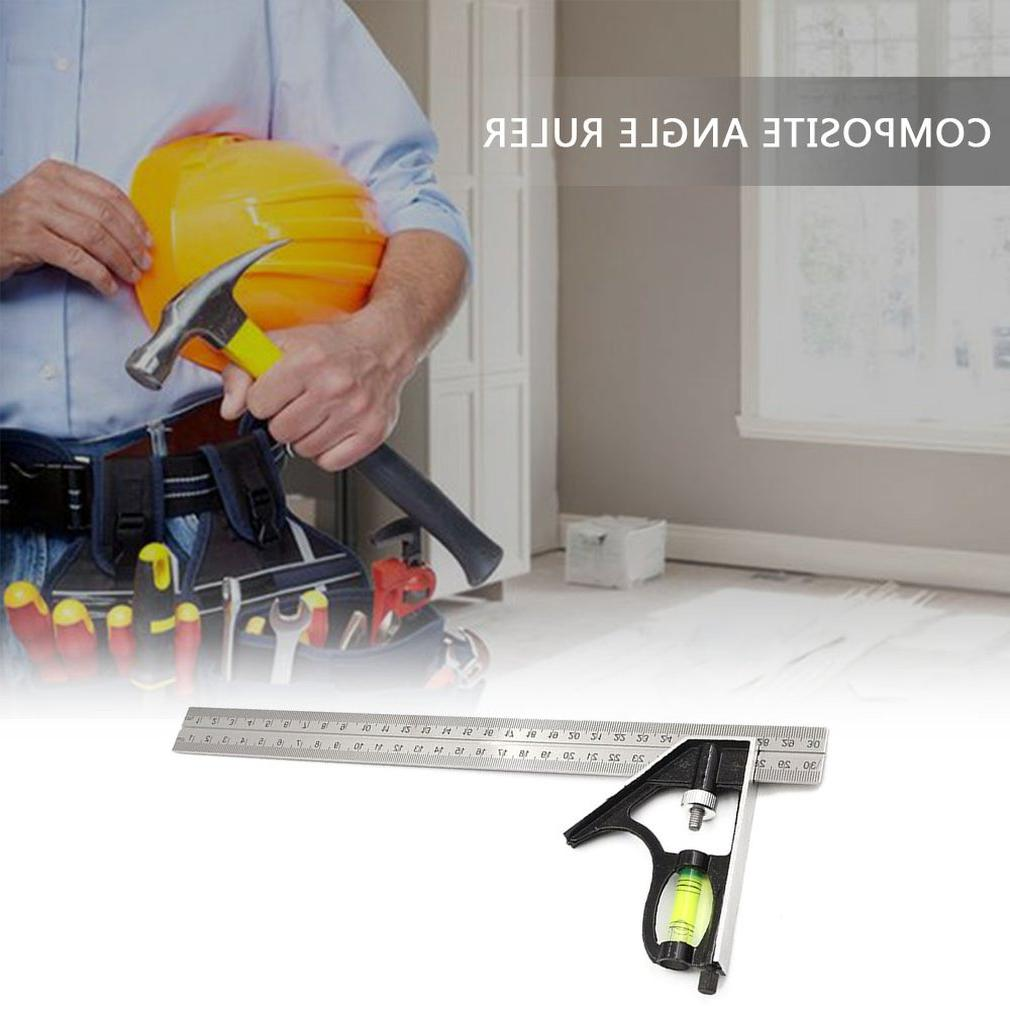 300Mm Adjustable Combination Angle 45 <font><b>90</b></font> With Level Multifunctional Tools