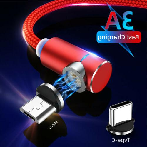 3a 90 degree magnetic micro usb type