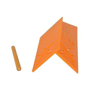 3D Mitre 45/90 Angle Square Ruler Woodworking E