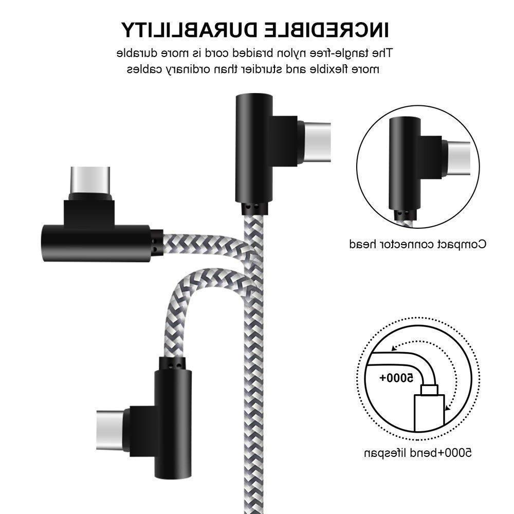 3Pack Braide USB USB to Type C Charger & Sync Cable