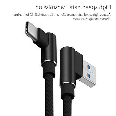 3PCS 90 Right USB Fast Charger Cable