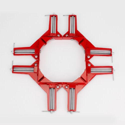 """4"""" 90 Degree Right Angle Clip Picture Frame Corner Mitre Cla"""