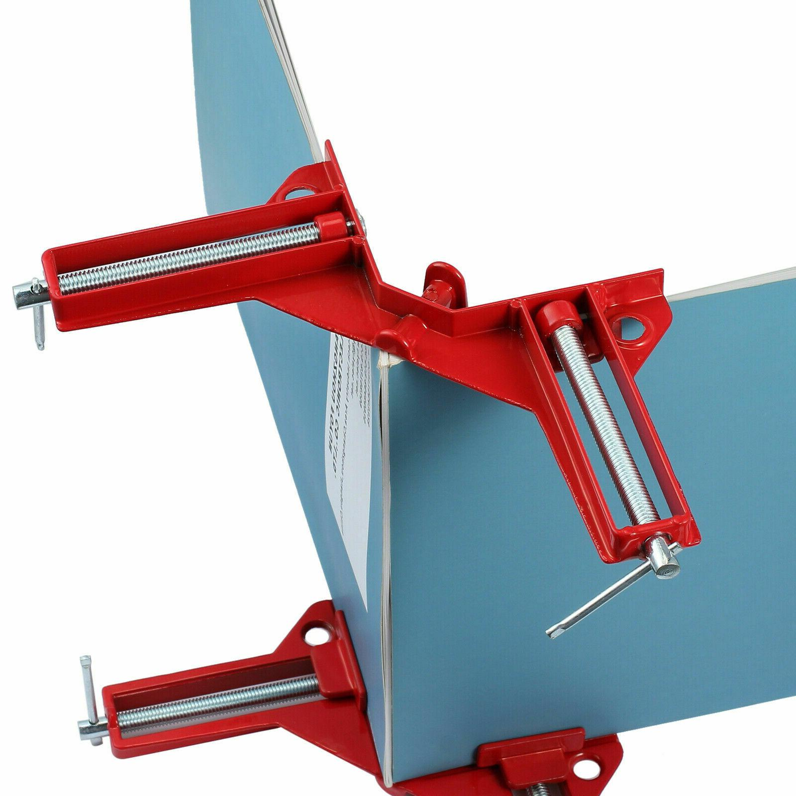 4x 90° Degree Right Angle Picture Frame Corner Clamp Woodworking Kit