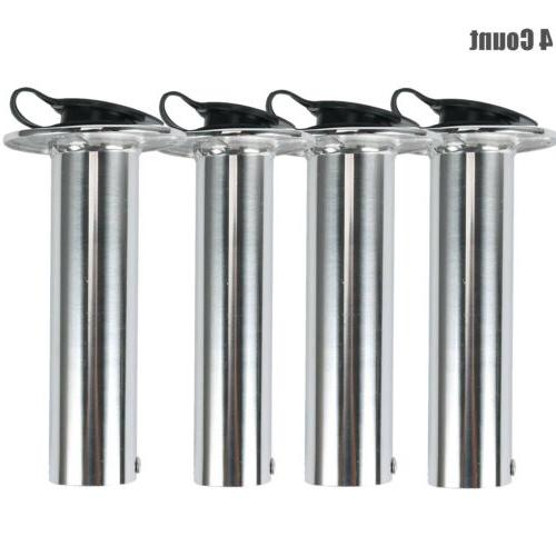 4x Mount 90 Degree Holders Stainless Steel with Cap &