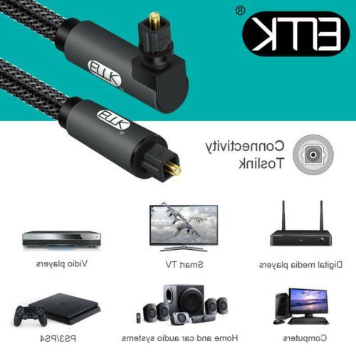 EMK Digital degree Cable Optical TV Speaker Cable
