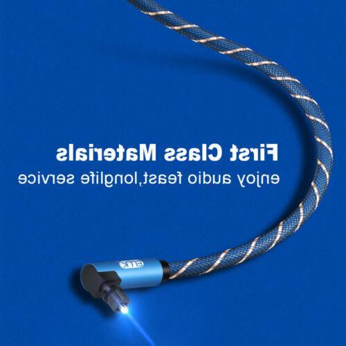 EMK Digital Optical 90 degree Angle Audio Cable Optical Cable