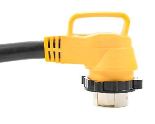 "Camco 18"" AMP Locking PowerGrip Electrical Adapter"