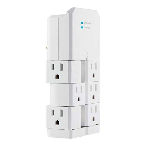 GE Surge Protector Tap Swivel Outlets, 90 Rotating 37063
