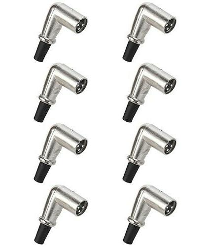 8x 3 pin xlr male plug right