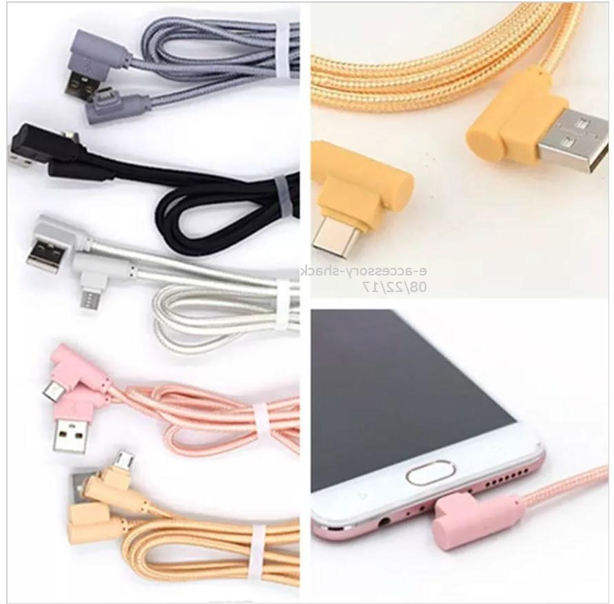 90 Degree Angle 6FT Fast Charge Micro USB Cable Rapid Power