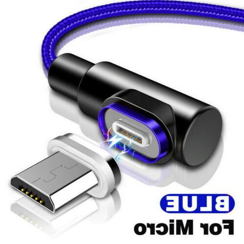 90 3A Magnetic USB C USB Data Charging Charger Cable