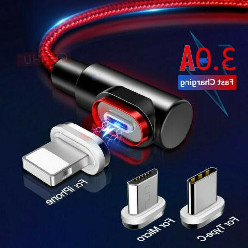 90 degree 3a magnetic usb type c