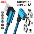 90 Degree 3in1 Micro USB Type C iOS Magnetic Data Sync Fast