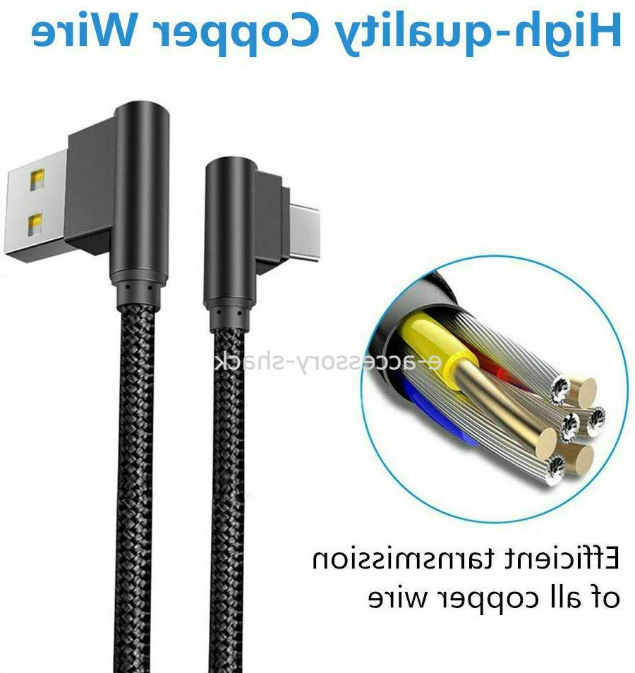 90 Degree C Cable Cord For Samsung Galaxy A20 A50