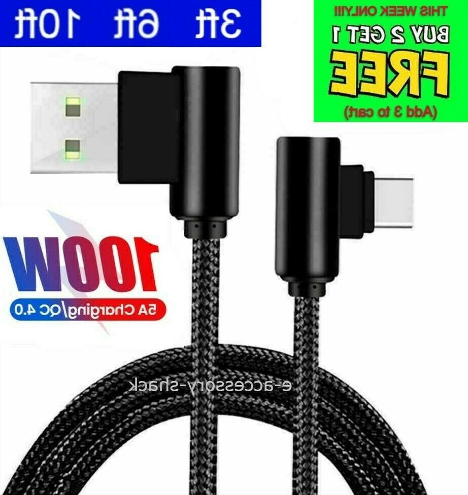 90 degree angle type c cable charger
