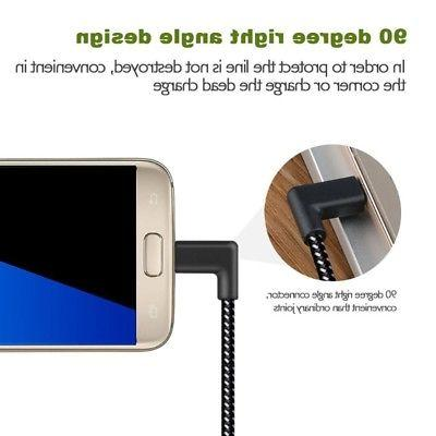 90 L Shape Charging Nylon Cable