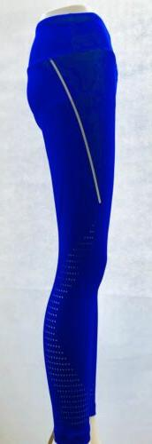 90 degree by metallic stripe perforated legging
