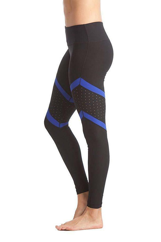 90 Color Block Perforated Leggings
