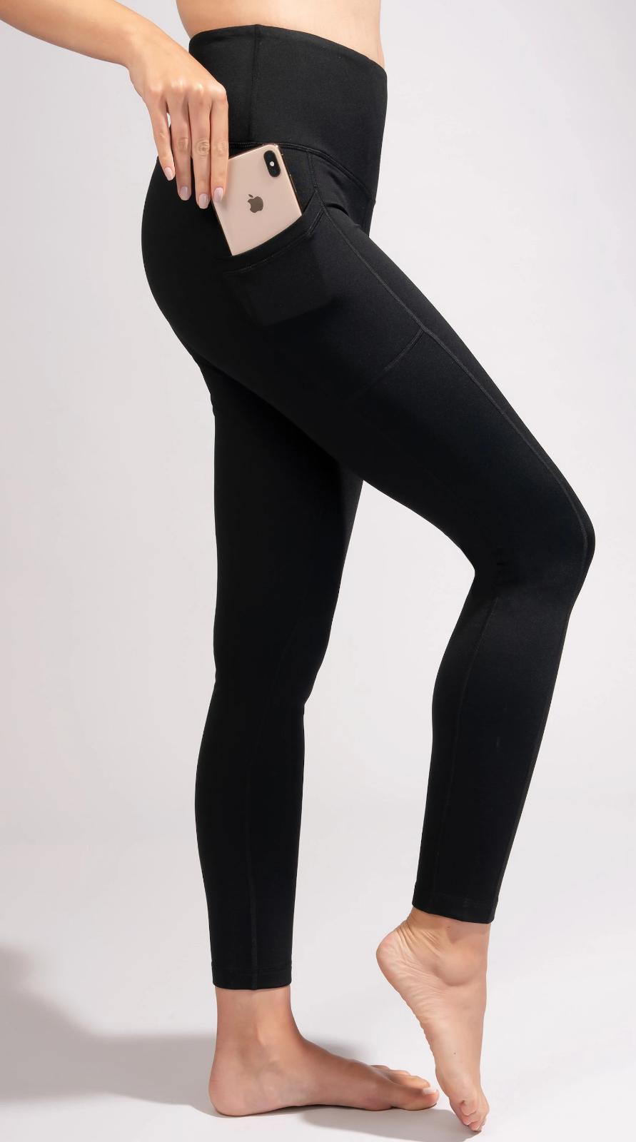 hi rise waistband powerflex fleece side pockets