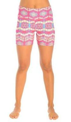 90 Degree By Reflex Printed Yoga Running Shorts SHW3194 TIE/