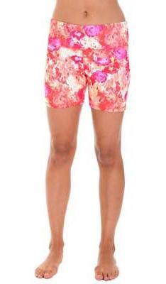 90 Degree By Reflex - Printed Yoga Running Shorts SHW3194