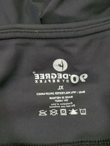 90 By Womens Flex Yoga Pants Black Pockets NWT