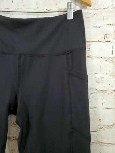 90 Degree By Womens Power Pants Black Pockets