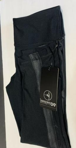90 Degree By Reflex Womens Power Flex Yoga Pants Black Size