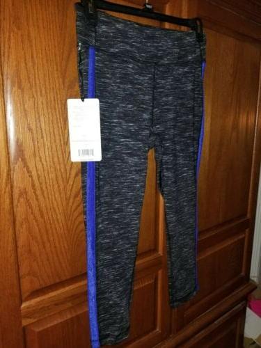 90 Degree Reflex Women Satin Leggings Size Stripe