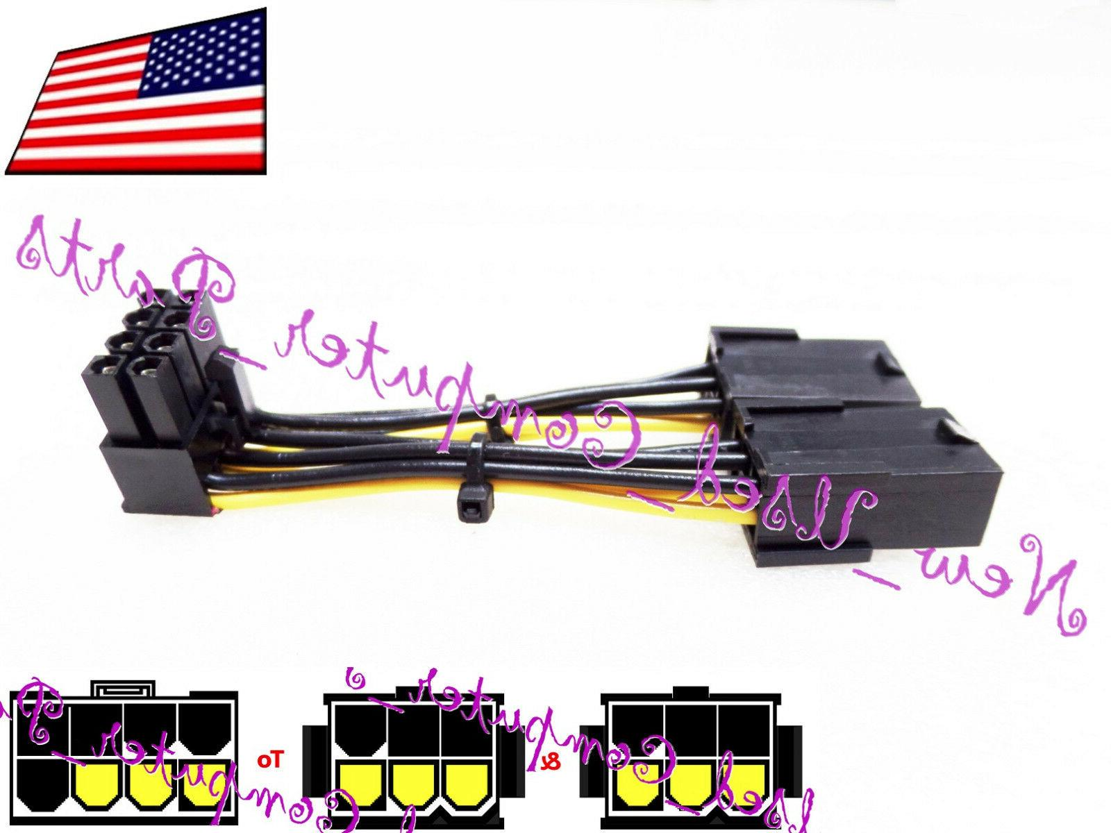 ➨➨➨ 90 Degree Dual 6-Pin to Inverted 8-Pin PCI-E High