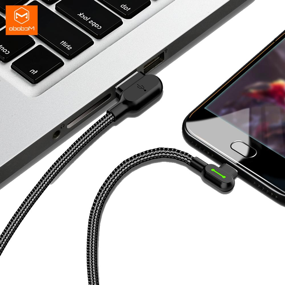 MCDODO 90 Degree Elbow Lightning Cable iPhone X 8