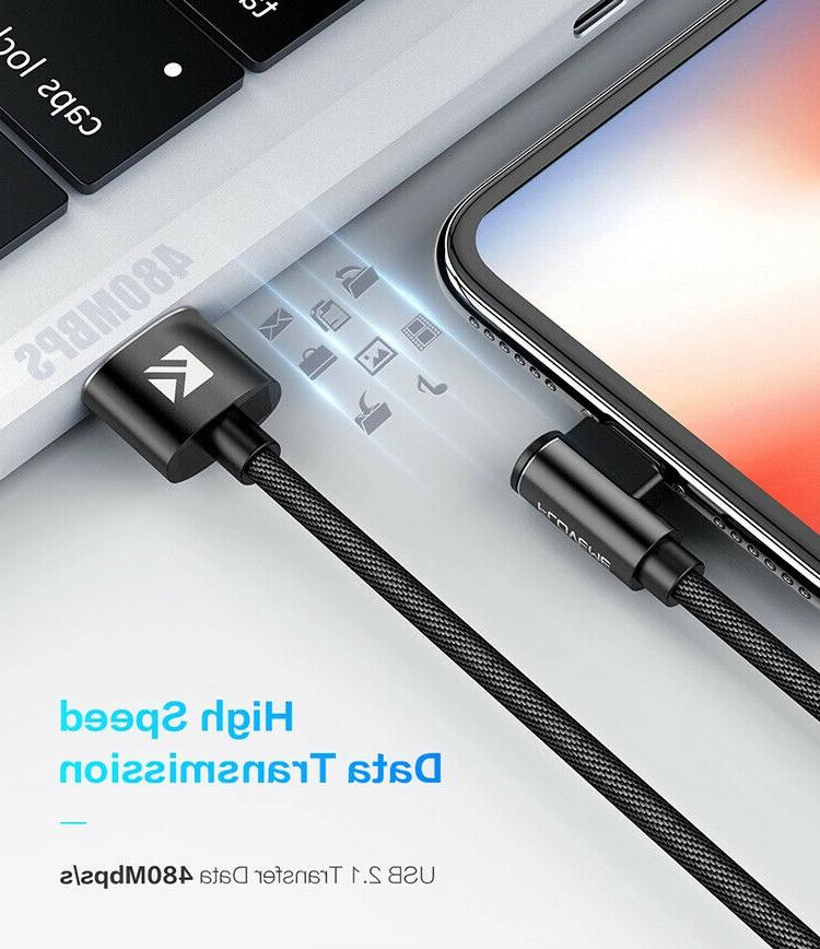 90 L Shape Charging Data Cable 3ft Angle