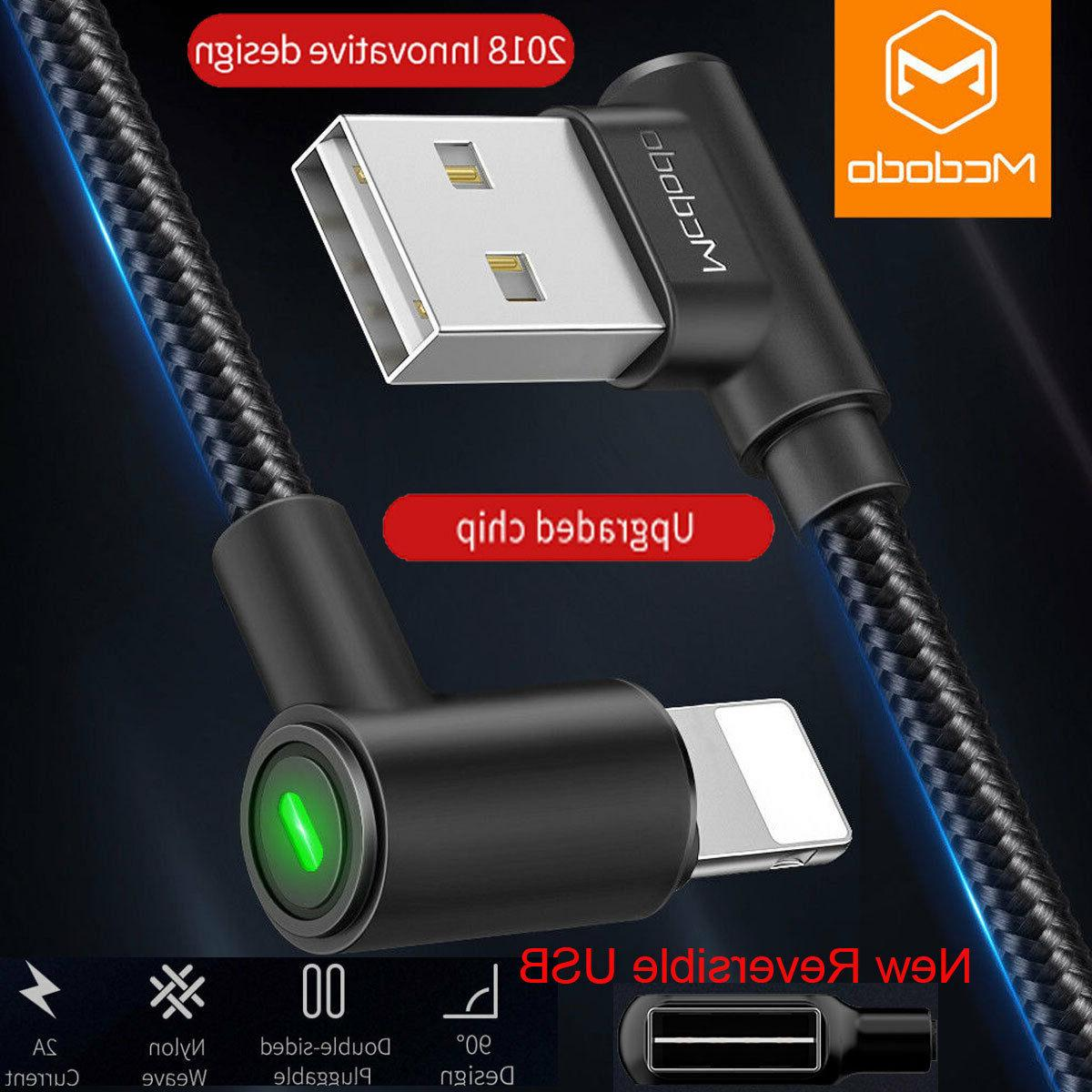 90 degree lightning usb charger cable fast