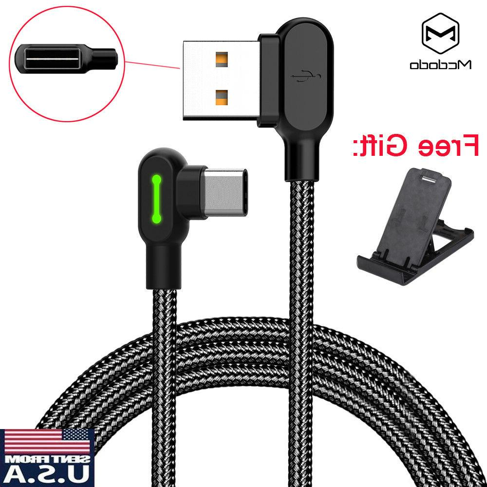 90 degree right angle braided usb charger