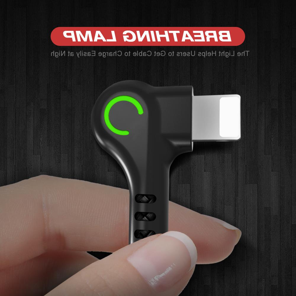 90 degree Right Angle cable Charger Data iPhone/ipad