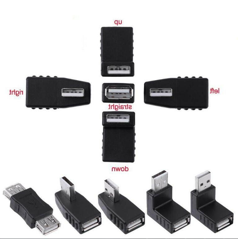 90 Degree USB 3.0 A Male to Female Extension Cable Right Ang