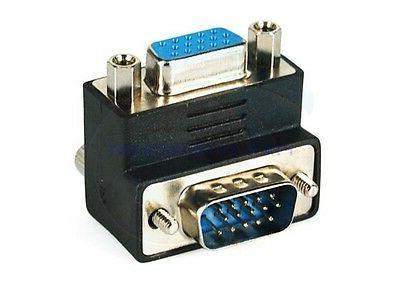 90 VGA Male to Angle Adapter Plug