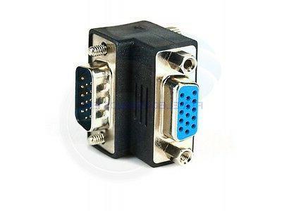 90 SVGA Male Female Right Angle Adapter Plug