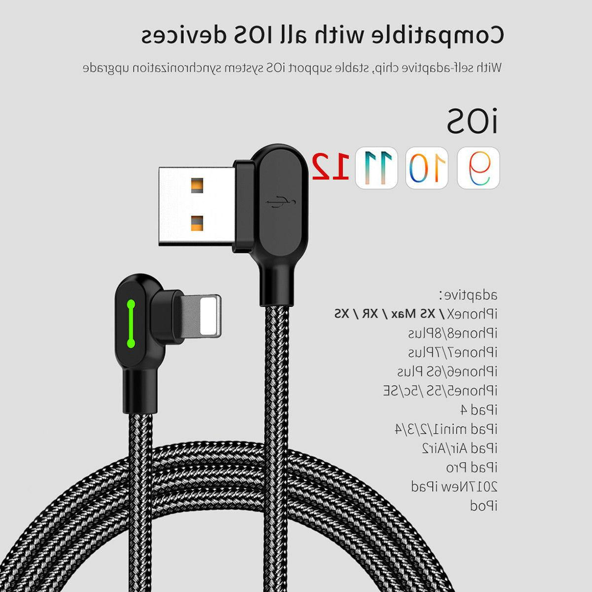 MCDODO 90 Degree Lightning Charging Cable iPhone 8 6 6s XR