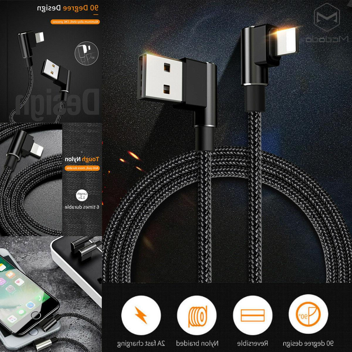 MCDODO 90 Degree Elbow Lightning USB Charging Cable Data App