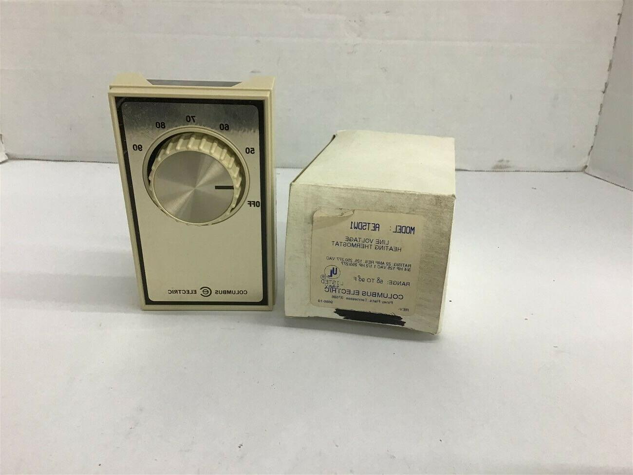 aet5dw1 line voltage heating thermostat 22 amps