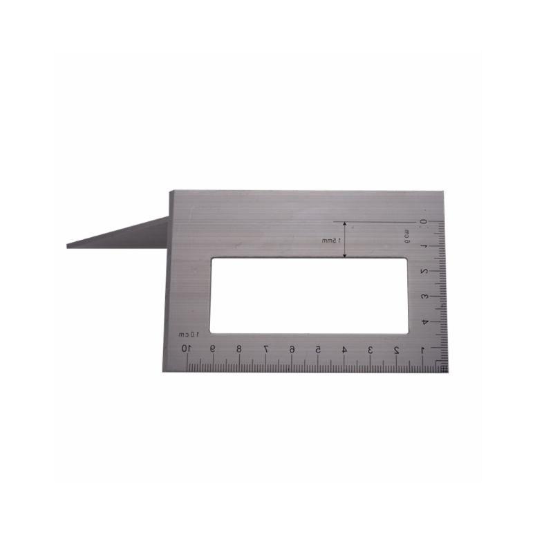 Aluminum Alloy Wooden Angle Ruler <font><b>Degree</b></font> Gauging Scribe Mark Line Measuring
