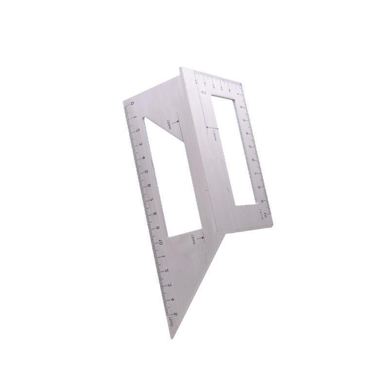 Aluminum Alloy Angle 45/ <font><b>90</b></font> <font><b>Degree</b></font> Scribe Measuring