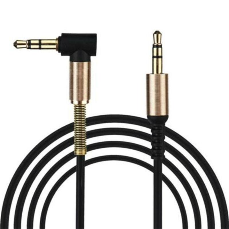 Black 3.5mm Cables Male 90 Right Connect