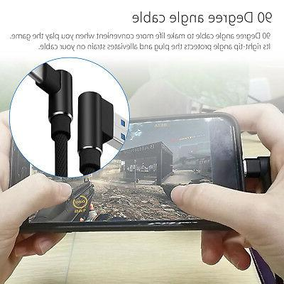 Braided 90 Degree Right Angle Type C / Micro USB Fast Data S