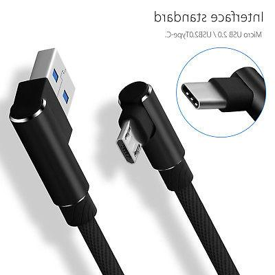 Braided Angle Type C / Micro USB Fast Sync Cable