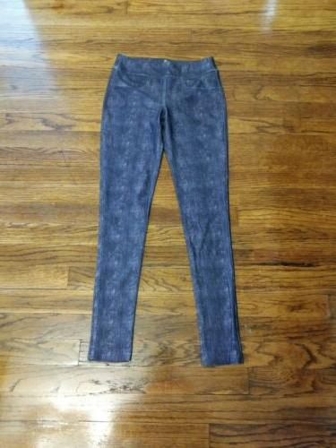 brand new leggings blue lavender denim print